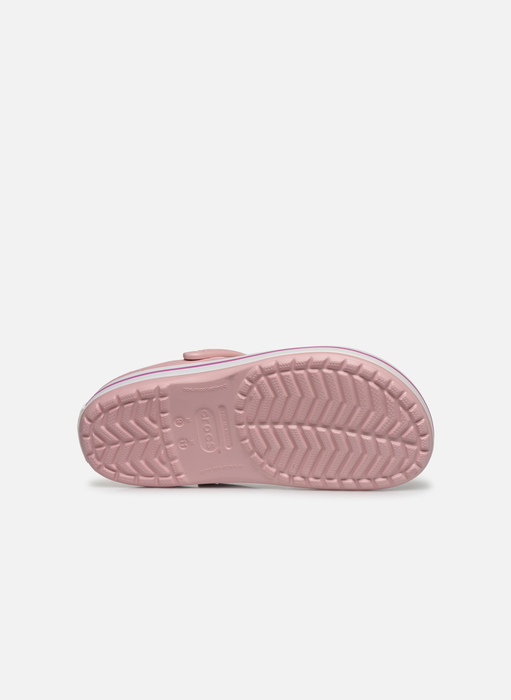 Sandales et nu-pieds Crocs Crocband M Rose vue haut