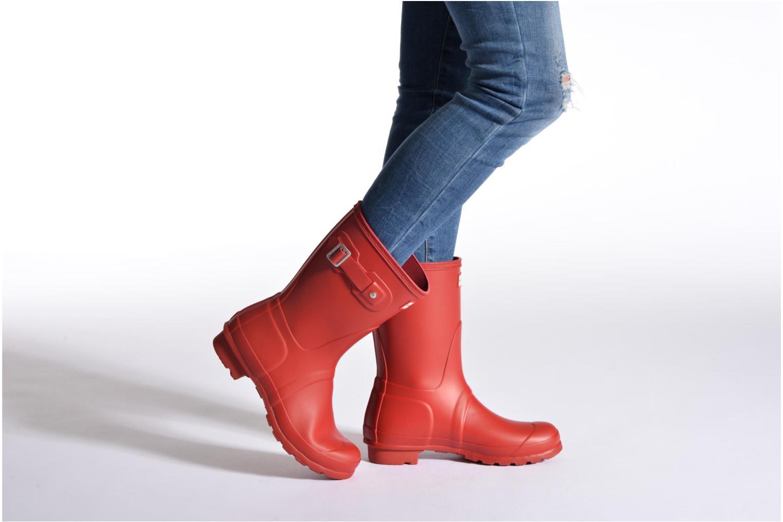 Bottines et boots Hunter Original Short Noir vue bas / vue portée sac