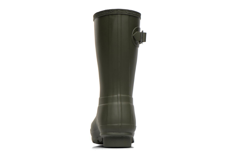 Bottines et boots Hunter Original Short Vert vue droite