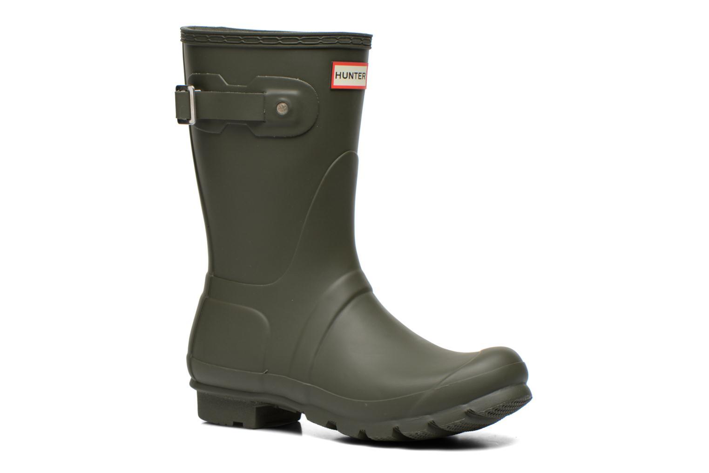 Bottines et boots Hunter Original Short Vert vue détail/paire