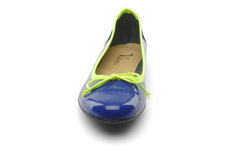 Ballerines Valensi Vega Bleu vue portées chaussures