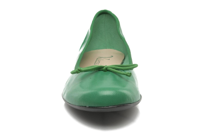 Ballerines Valensi Vega Vert vue portées chaussures