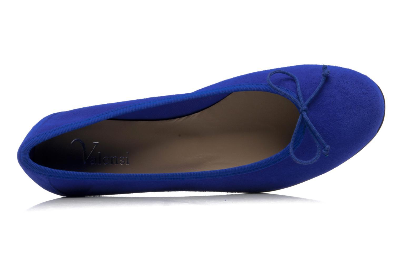 Ballerinas Valensi Vega blau ansicht von links