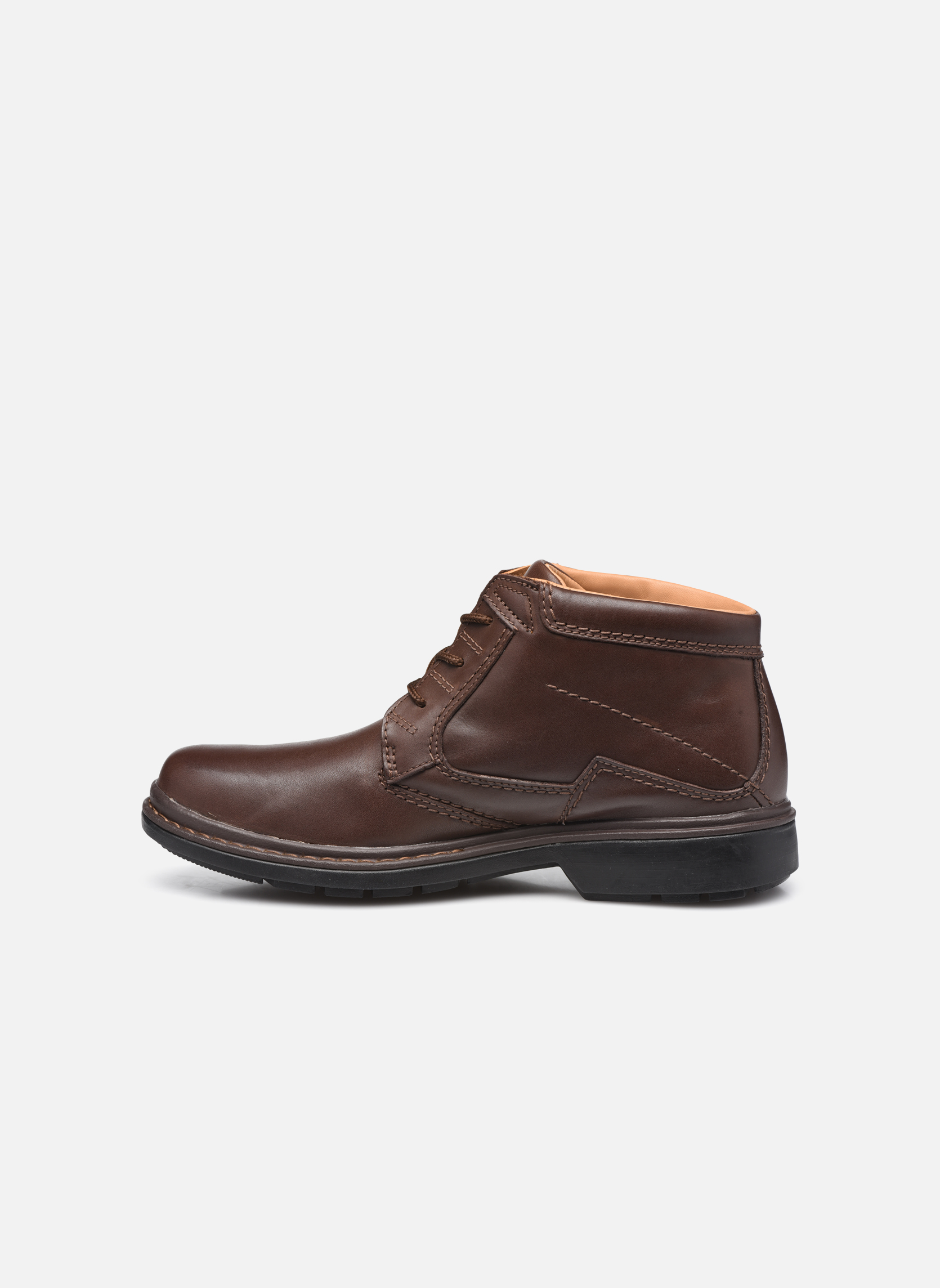 Lace-up shoes Clarks Rockie Hi Gtx Brown front view