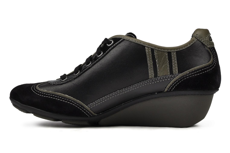 Sneakers Clarks Hustle Bustle Zwart voorkant