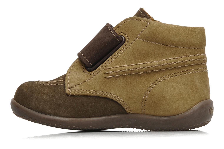 Chaussures à scratch Kickers Bilou Marron vue face