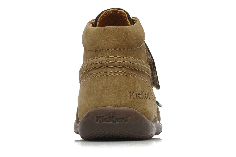 Schoenen met klitteband Kickers Bilou Bruin rechts