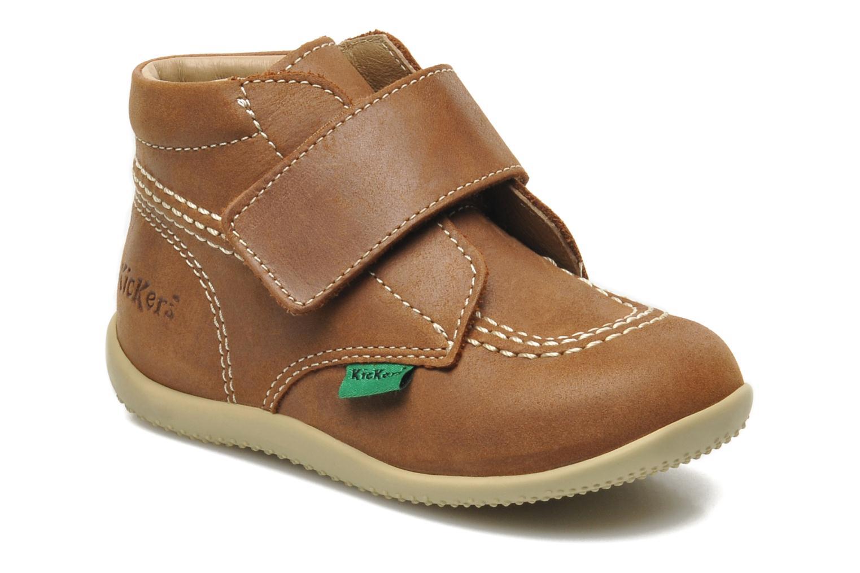 Zapatos con velcro Kickers Bilou Marrón vista de detalle / par