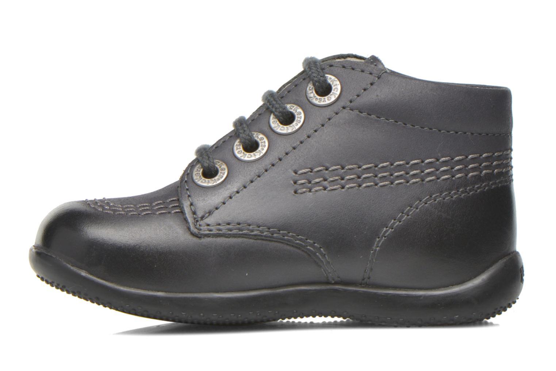 Chaussures à lacets Kickers Billy Noir vue face