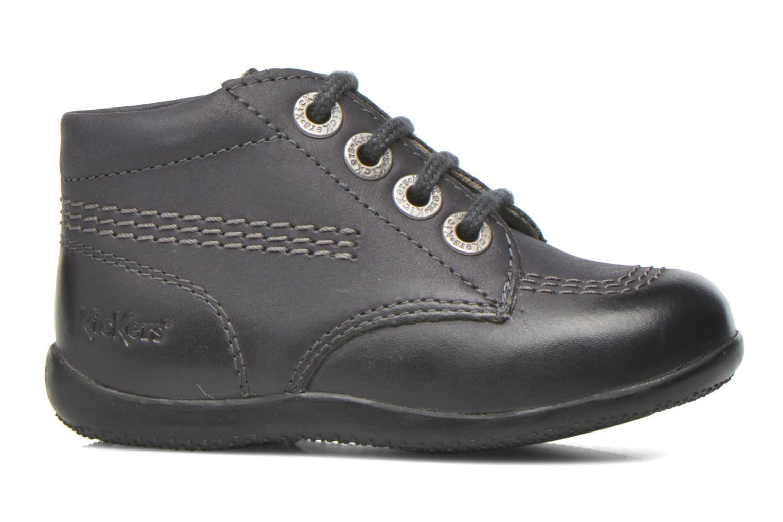 Zapatos con cordones Kickers Billy Negro vistra trasera
