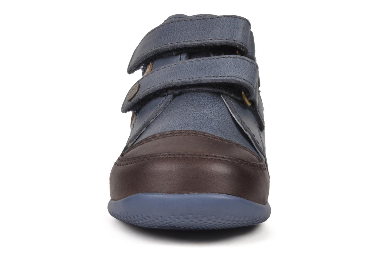 Chaussures à scratch Kickers Bishop Bleu vue portées chaussures