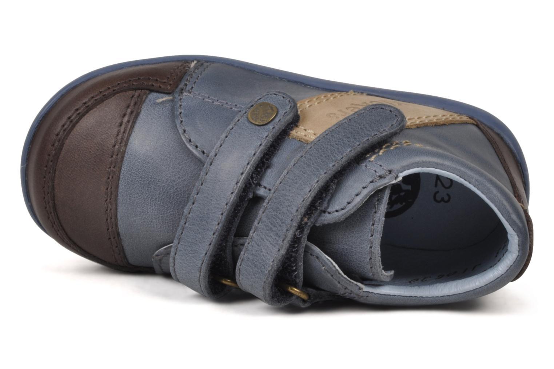 Chaussures à scratch Kickers Bishop Bleu vue gauche