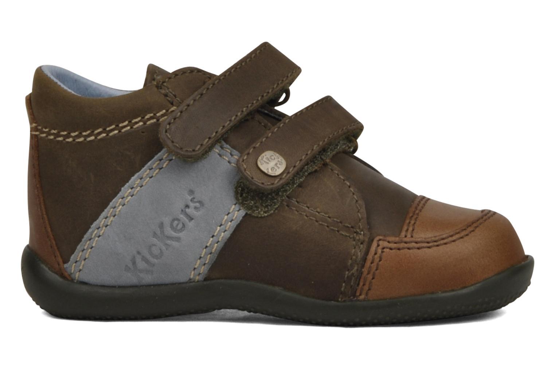 Schoenen met klitteband Kickers Bishop Bruin achterkant