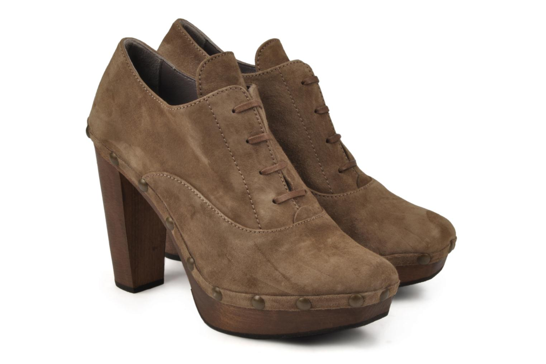 Chaussures à lacets Castaner Katia Marron vue 3/4