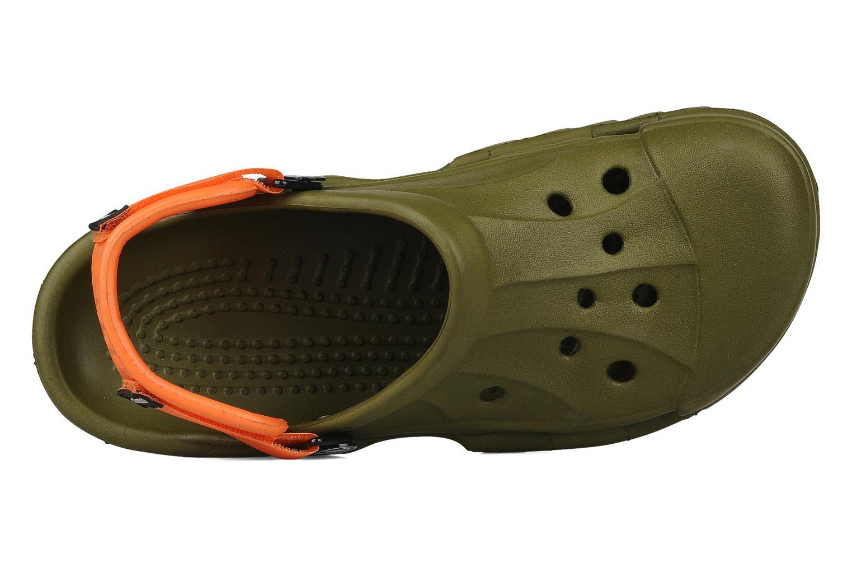 Sandalen Crocs Off Road grün ansicht von links