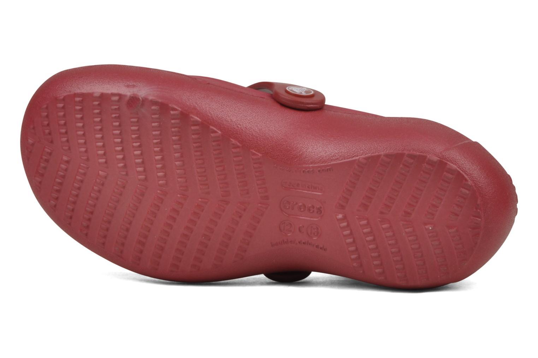 Ballerines Crocs Girl Alice Rouge vue haut