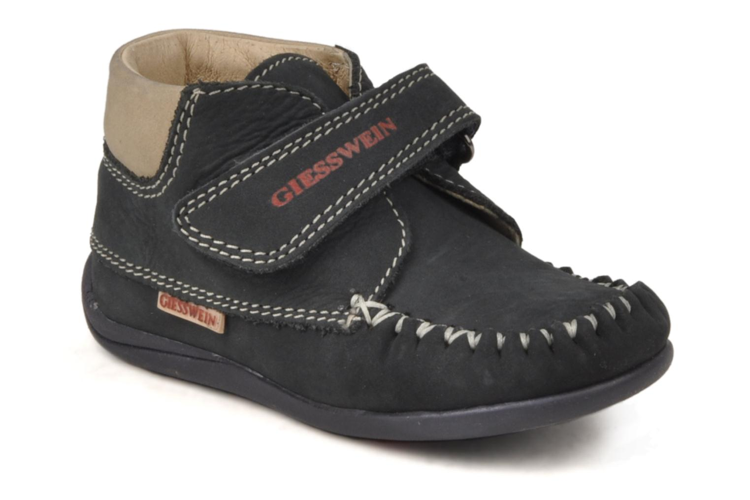 Velcro shoes Giesswein Cottbus Blue detailed view/ Pair view