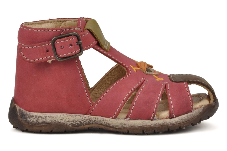 Sandales et nu-pieds Bopy Porsair Rouge vue derrière