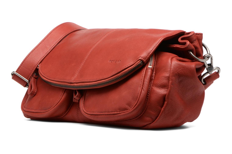 Handtaschen Nat & Nin Lola rot schuhe getragen