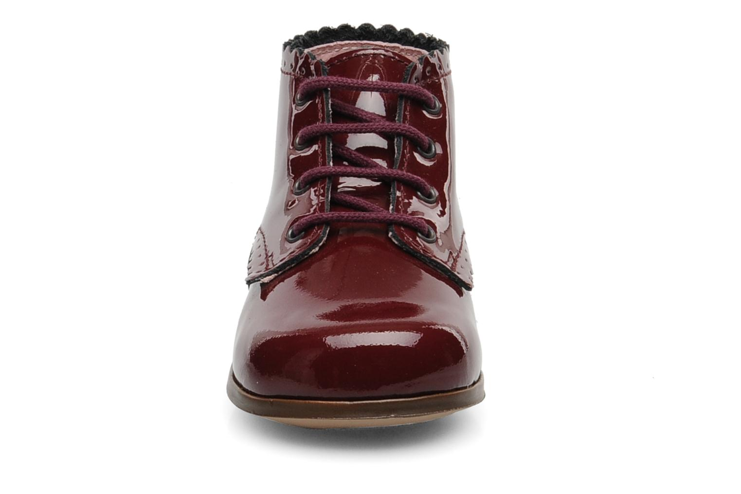 Ankle boots Little Mary Vivaldi Burgundy model view