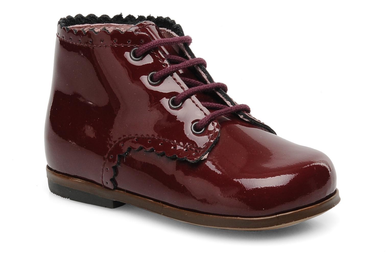 Ankelstøvler Little Mary Vivaldi Bordeaux detaljeret billede af skoene