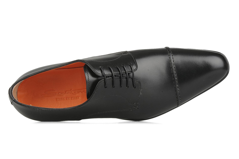 Chaussures à lacets Santoni William 10096 Noir vue gauche