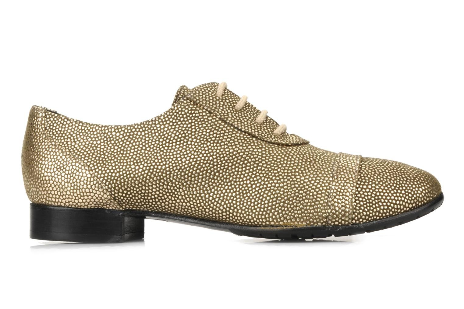 Lace-up shoes Maloles Dorothy Bronze and Gold back view
