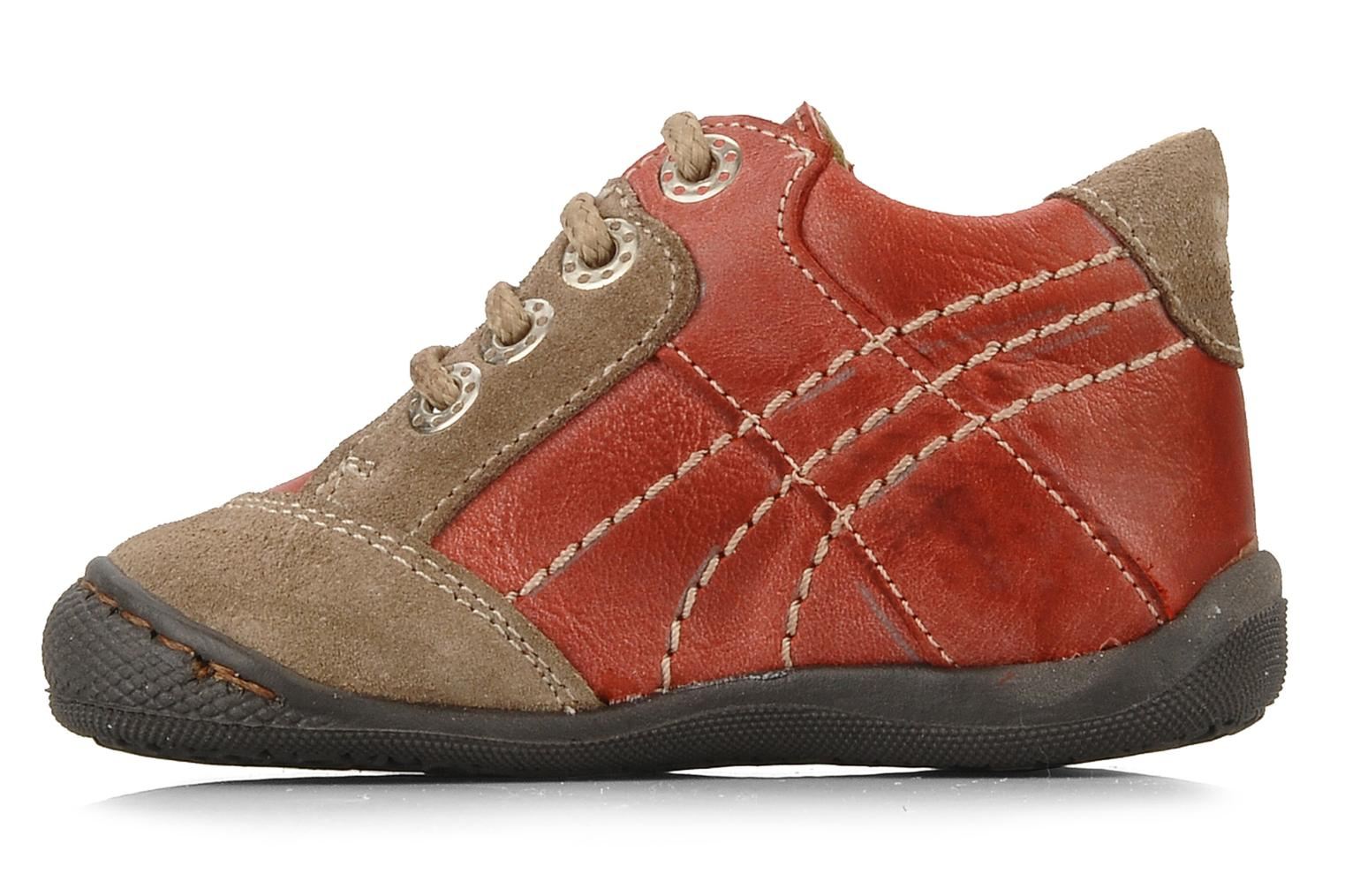 Ankle boots Natik 22507B Red front view