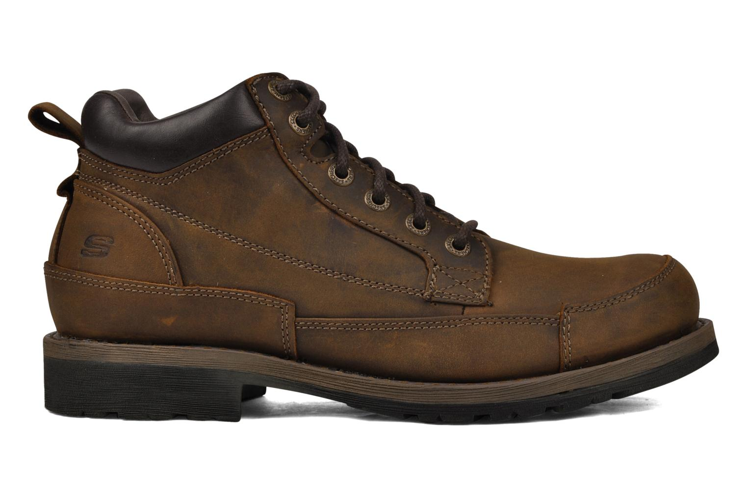 Lace-up shoes Skechers Shockwaves Regions 61737 Brown back view