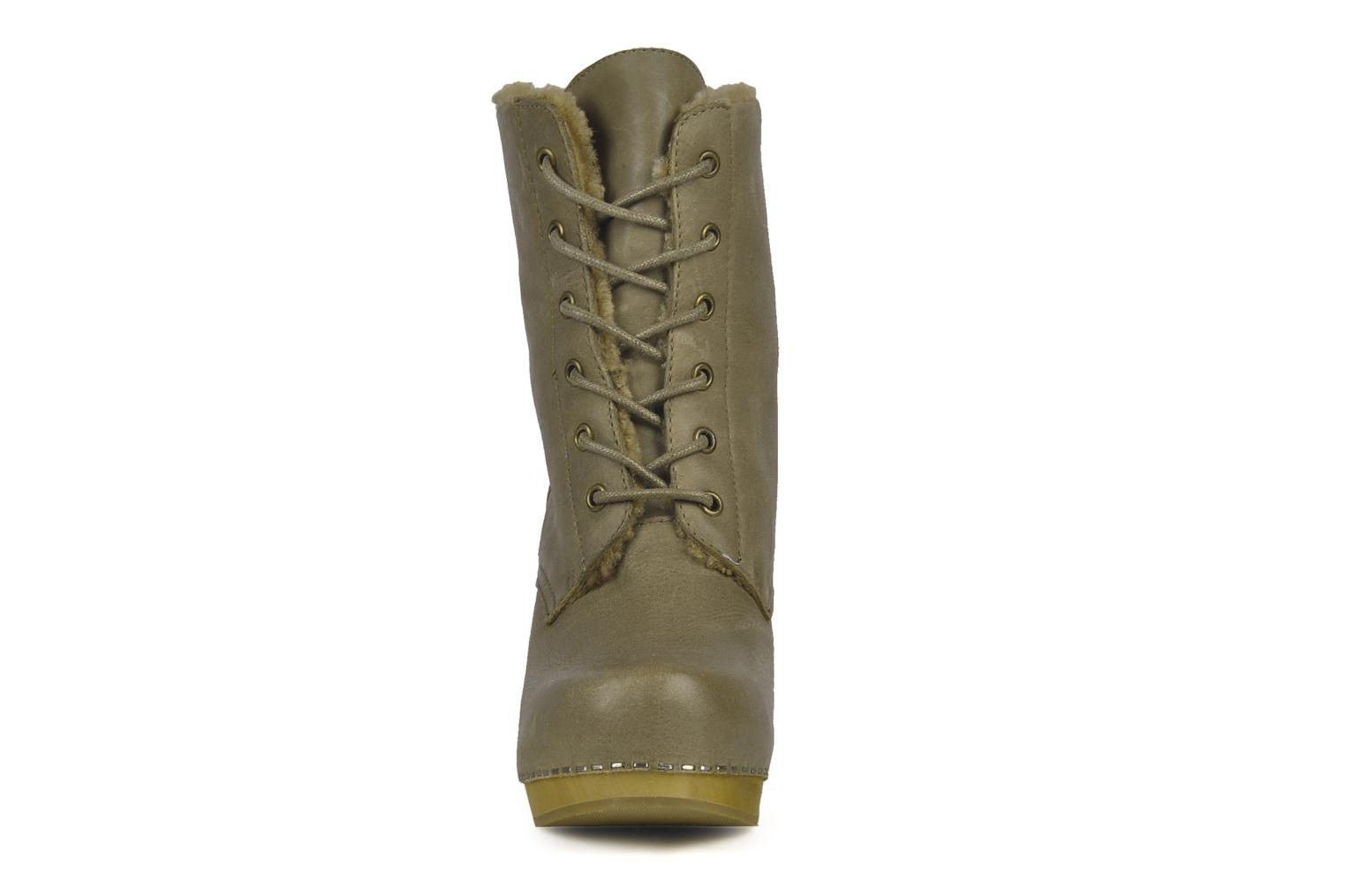 Ankle boots Jeffrey Campbell Erikson Fur Green model view