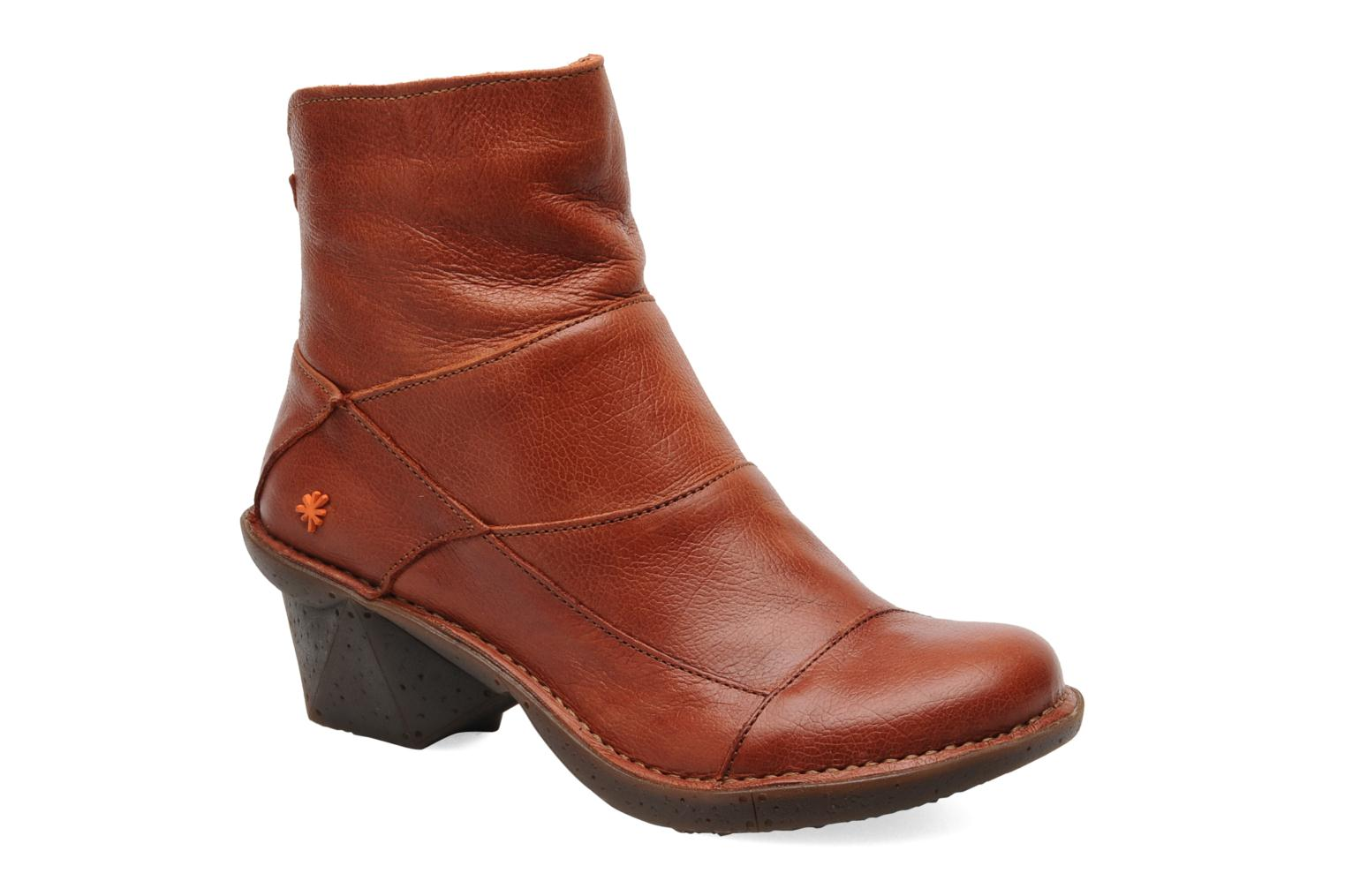 Ankle boots Art Oteiza 621 Orange detailed view/ Pair view