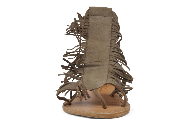 Sandales et nu-pieds Koah Elha Beige vue portées chaussures