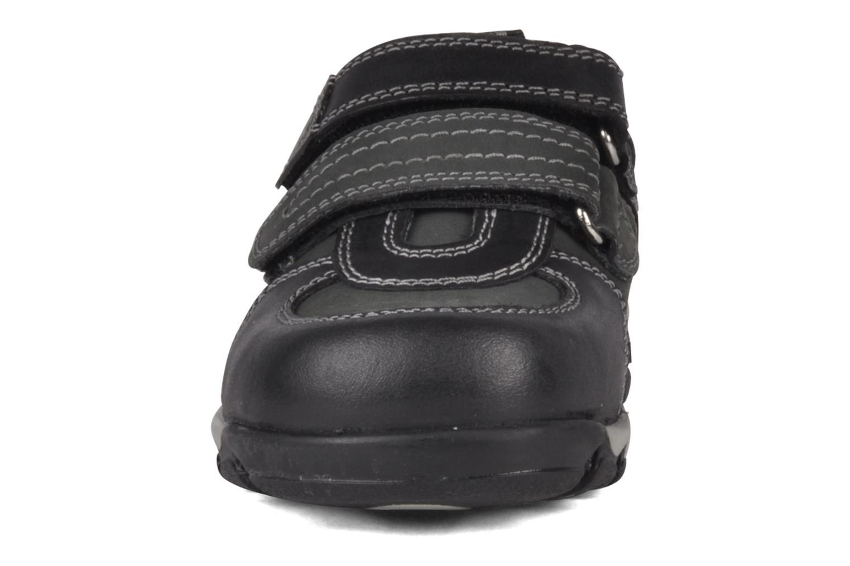 Baskets Hush Puppies Eddie Noir vue portées chaussures