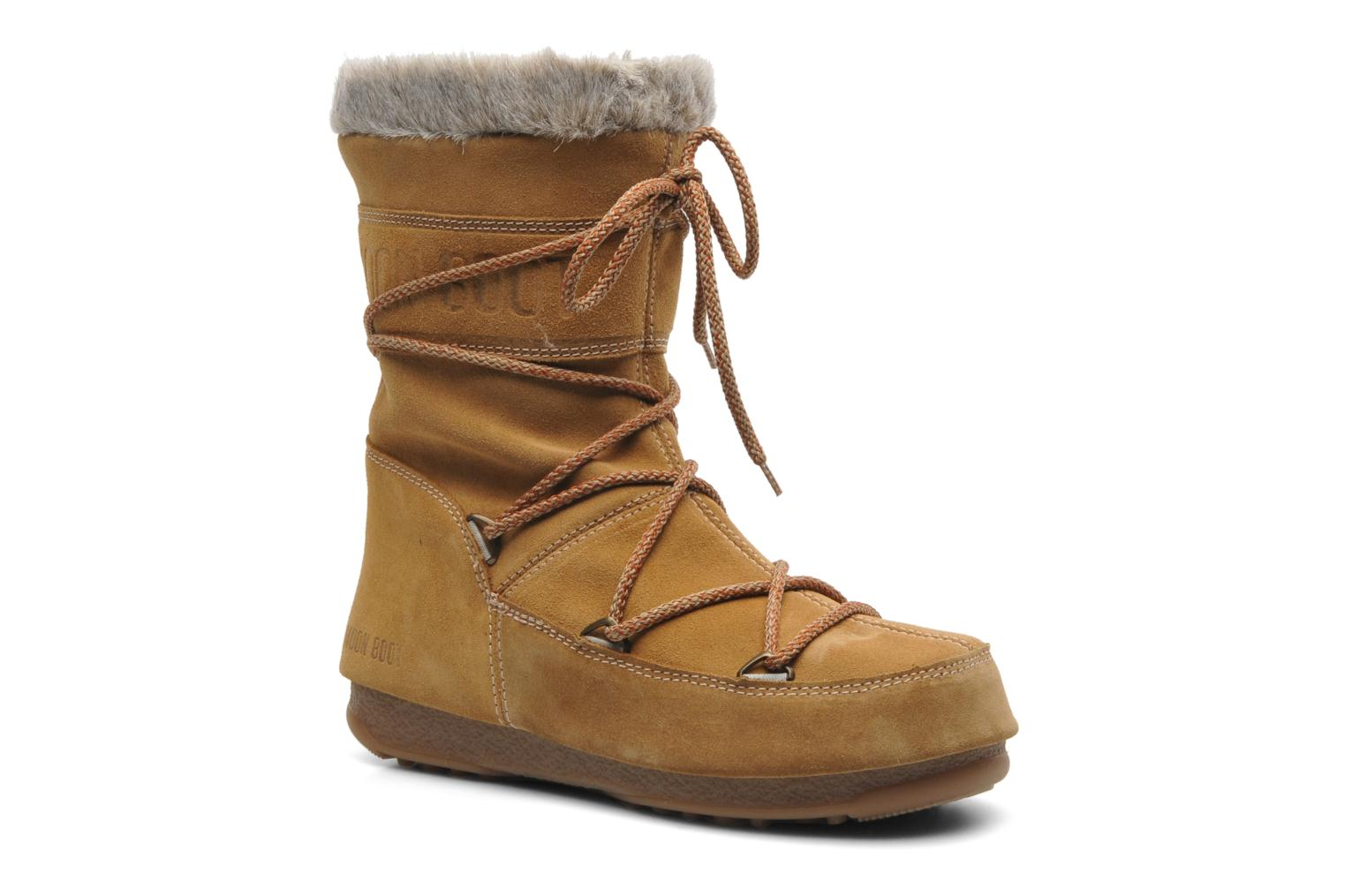 Ankle boots Moon Boot Butter mid Brown detailed view/ Pair view