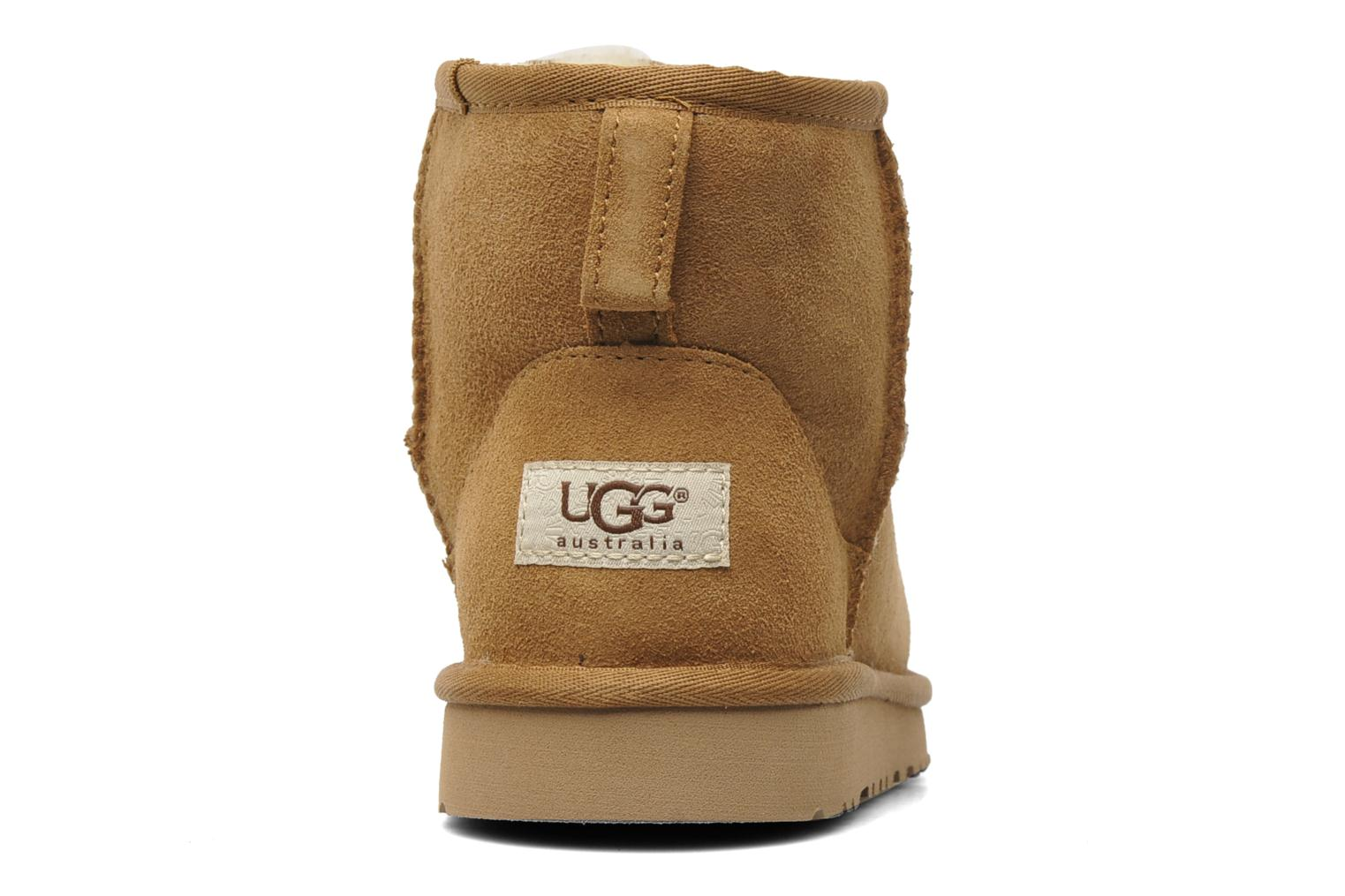 Ankle boots UGG Kid's classic short Beige view from the right