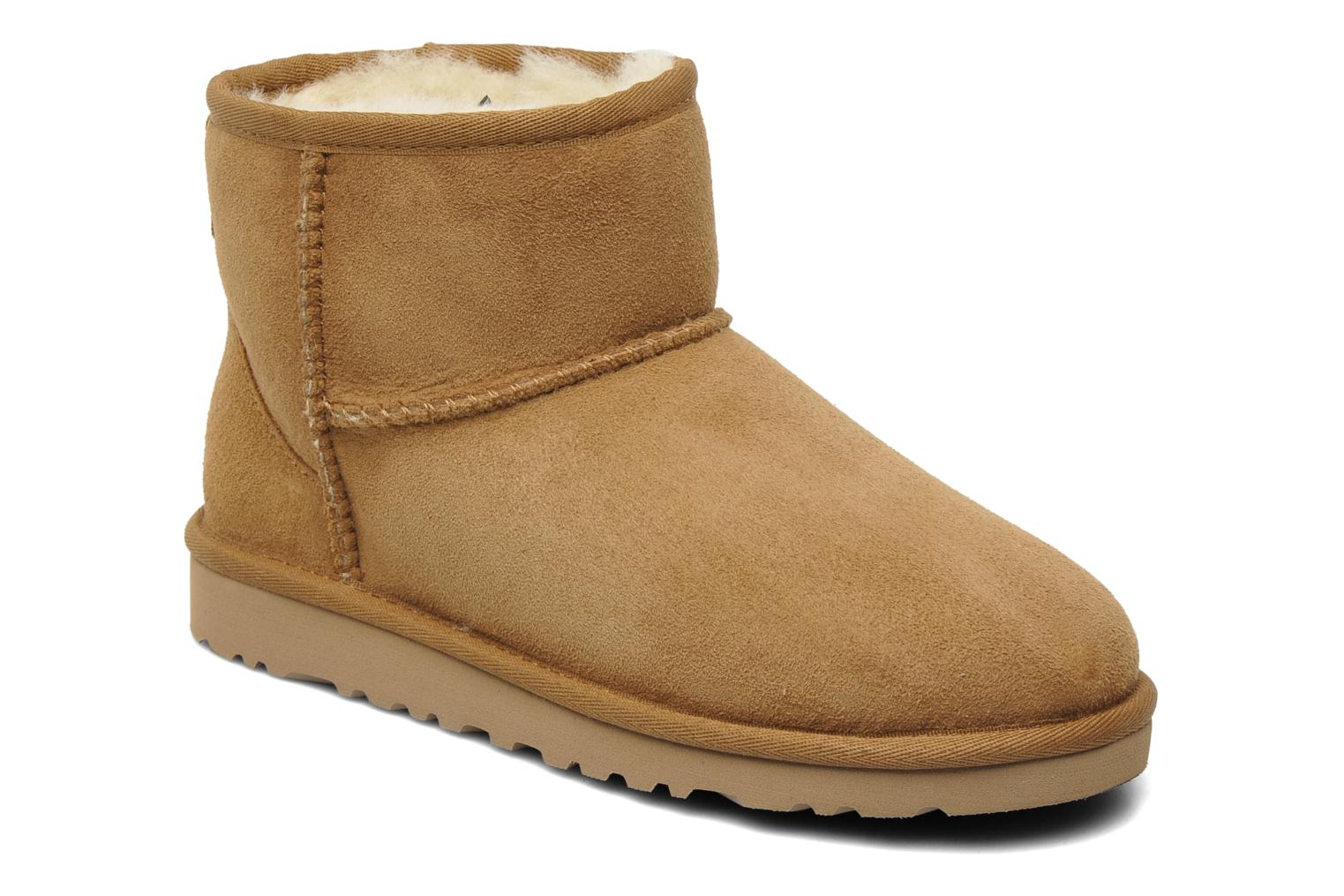 Ankle boots UGG Kid's classic short Beige detailed view/ Pair view