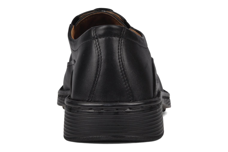 Zapatos con cordones Josef Seibel Brian Negro vista lateral derecha