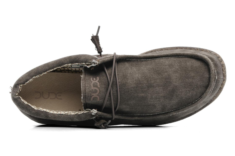 Sneaker DUDE Wally grau ansicht von links