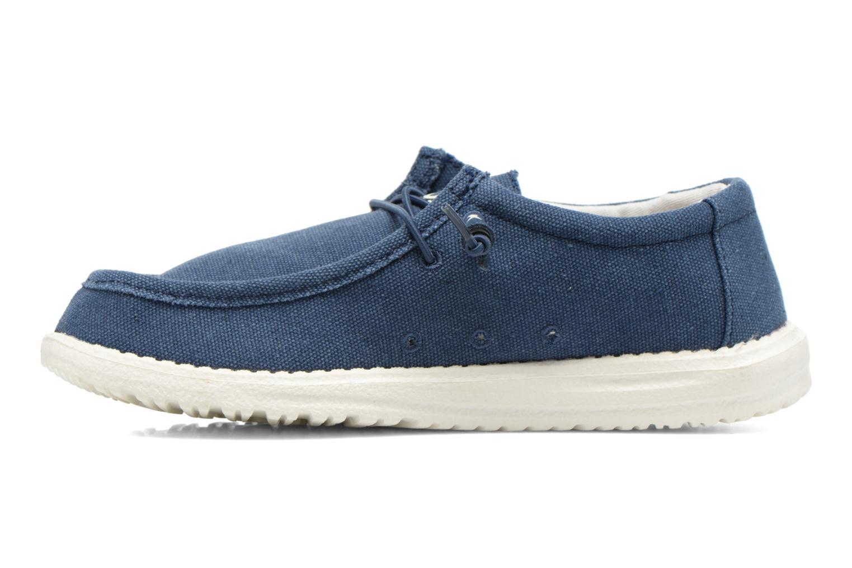 Sneakers DUDE Wally Blauw voorkant