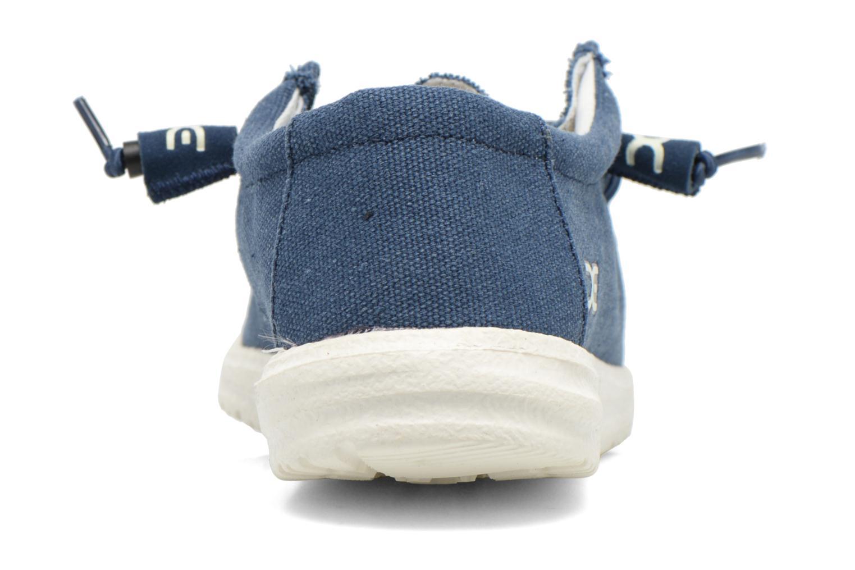 Sneakers DUDE Wally Blauw rechts