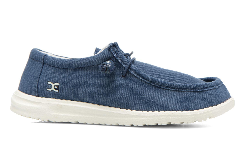 Sneakers DUDE Wally Blauw achterkant