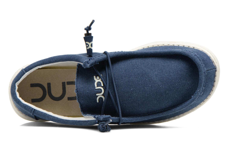 Sneaker DUDE Wally blau ansicht von links