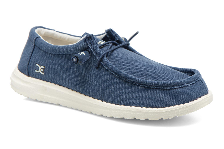 Sneakers DUDE Wally Blauw detail