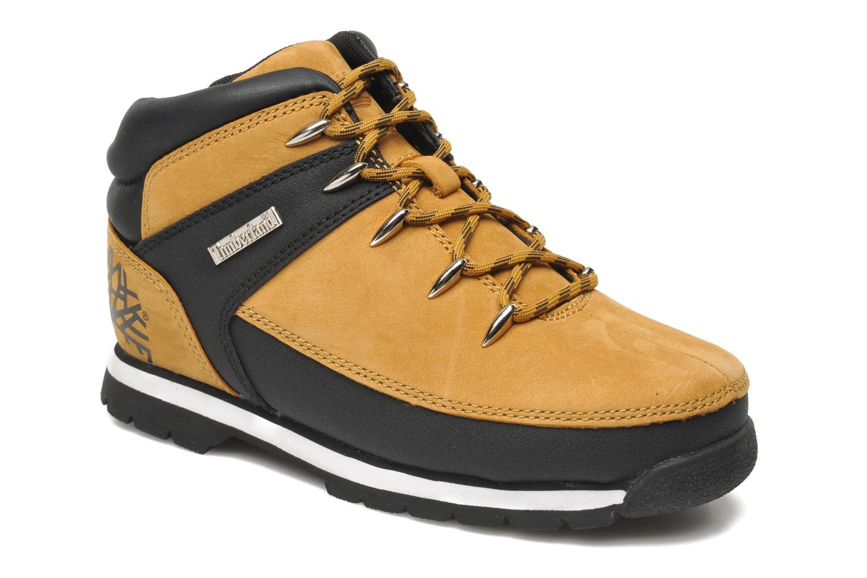 Bottines et boots Timberland Euro sprint Kids Beige vue détail/paire