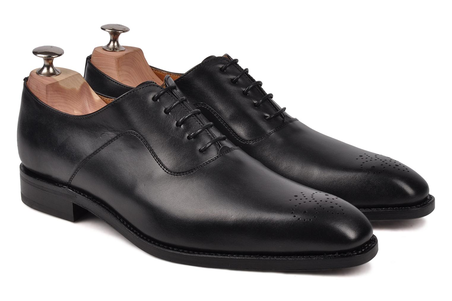 Lace-up shoes Finsbury Harlow Black 3/4 view