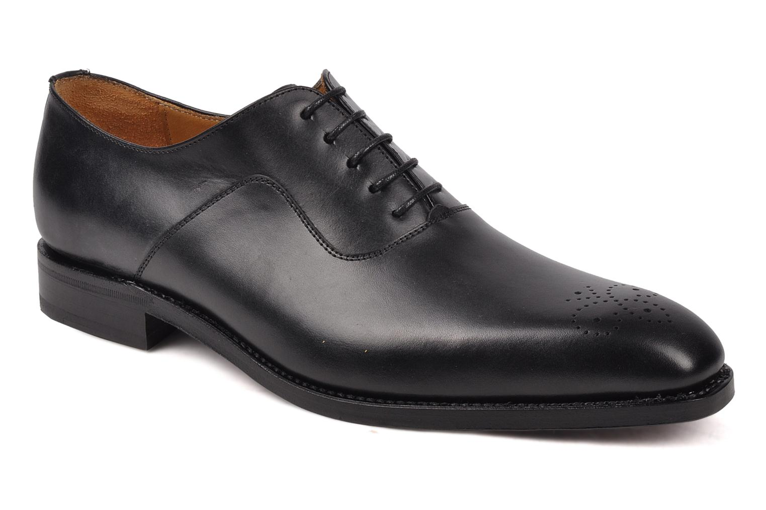 Lace-up shoes Finsbury Harlow Black detailed view/ Pair view
