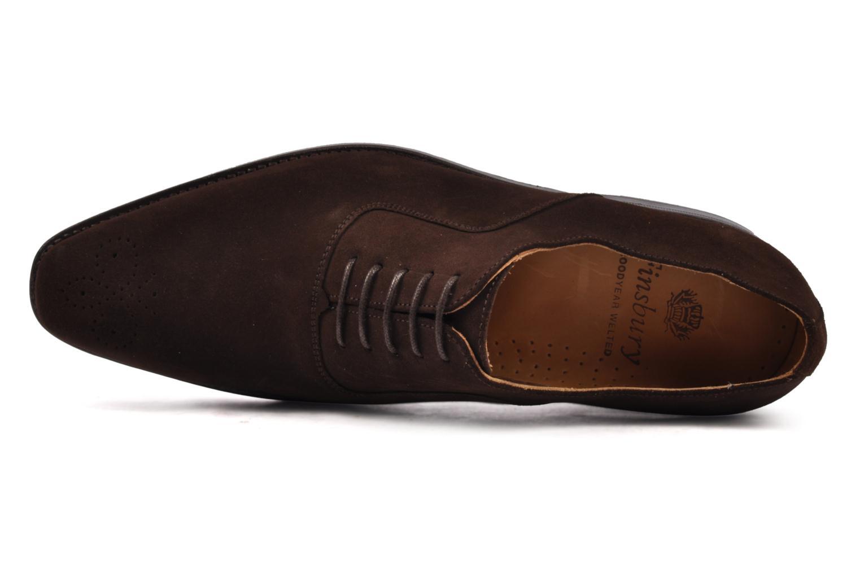 Chaussures à lacets Finsbury Harlow Marron vue gauche