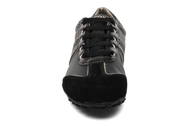 Baskets Geox D snake b Noir vue portées chaussures