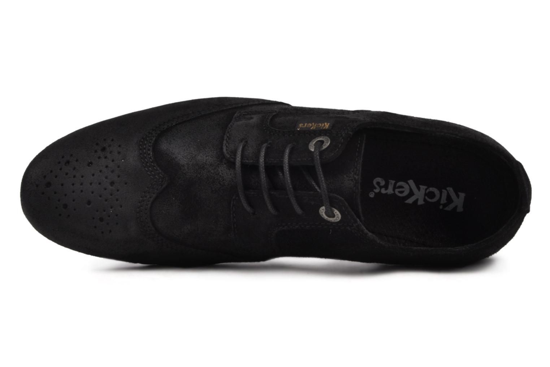 Chaussures à lacets Kickers Koncept Noir vue gauche