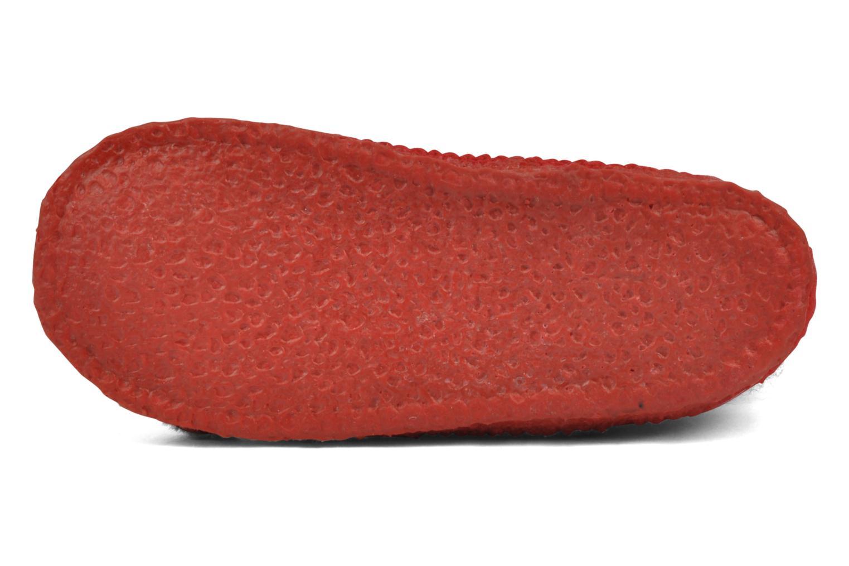 Hausschuhe Giesswein Silz rot ansicht von oben